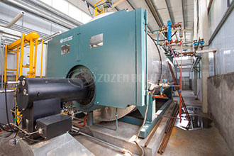 nature gas fired boiler put into hotel in pakistan